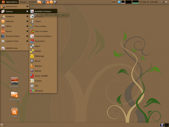 Parsix desktop