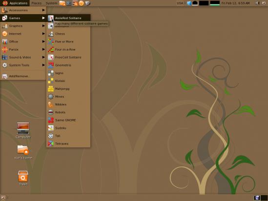Parsix desktop