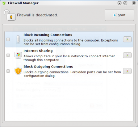 Firewall Manager disabled