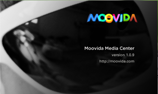 Moovida media center splash screen