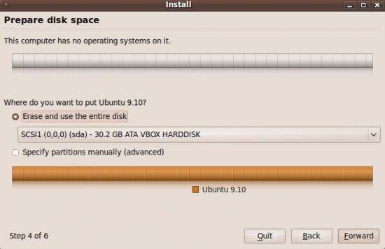 Ubuntu's installer