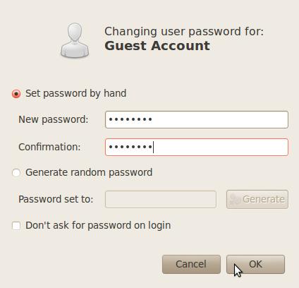 Guest password