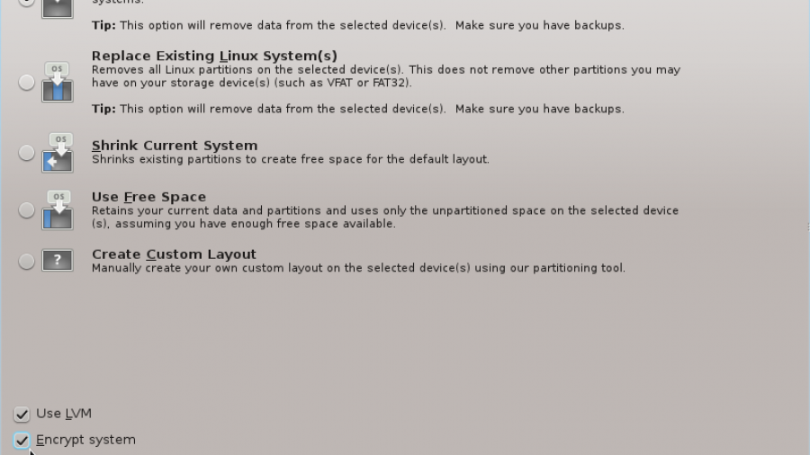 Fedora 16 Partition Methods