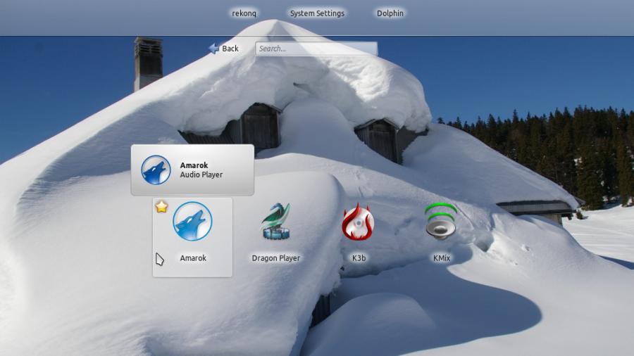 Kubuntu KDE Netbook Interface