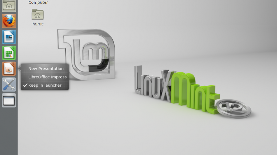 Mint 12 Unity Desktop