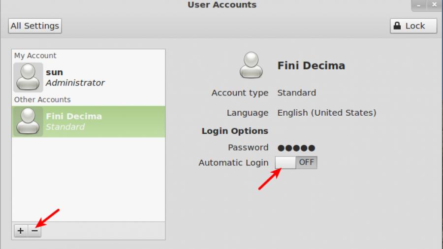 Mint 12 Delete User