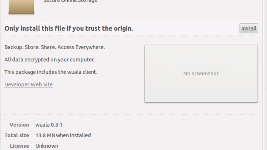Ubuntu Software Manager Wuala Install
