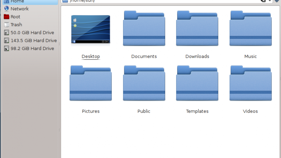 Fedora 17 Dolphin File Manager