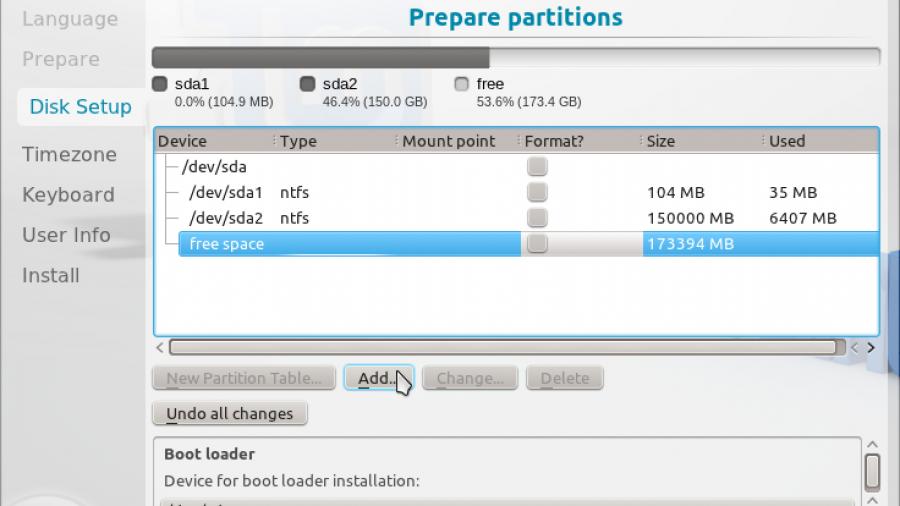 Linux Mint 12 KDE Advanced Partition Tool