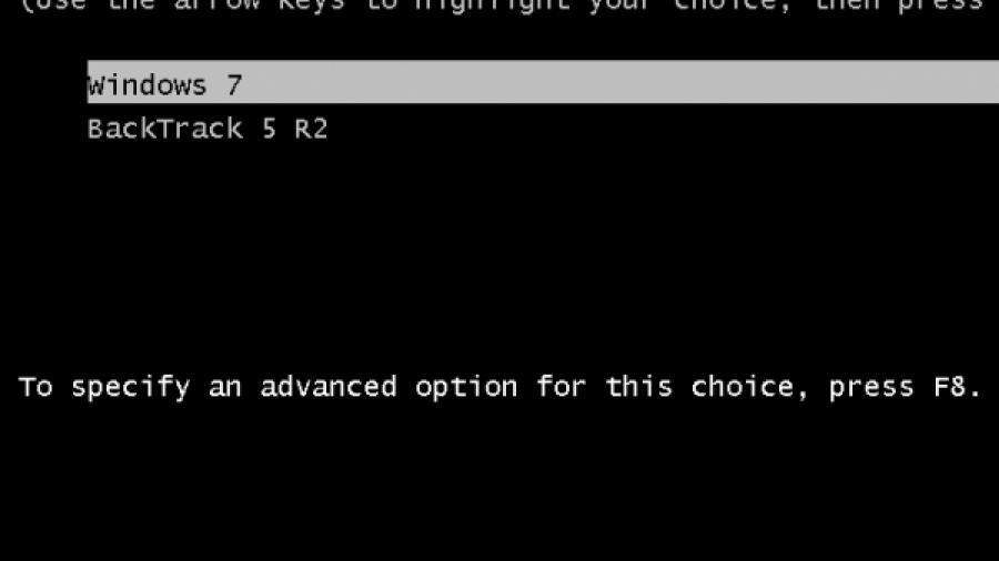 Windows 7 Dual-Boot BackTrack 5 Boot Menu