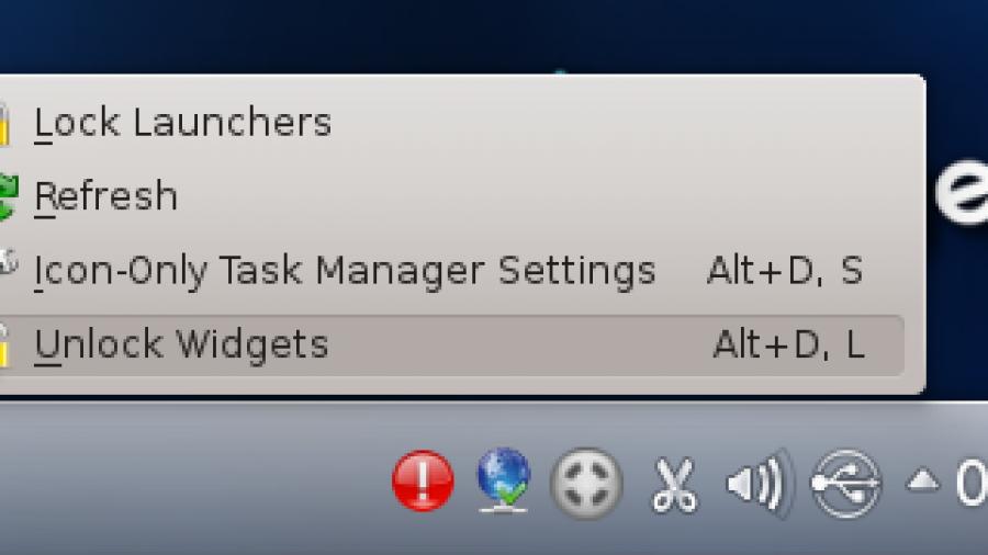 KDE 4 Unlock Widget