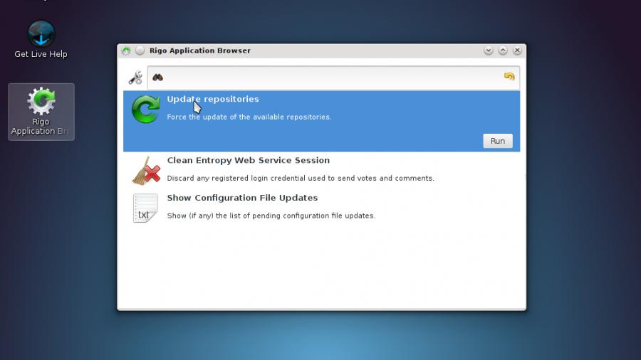 Sabayon 9 KDE Rigo Apps