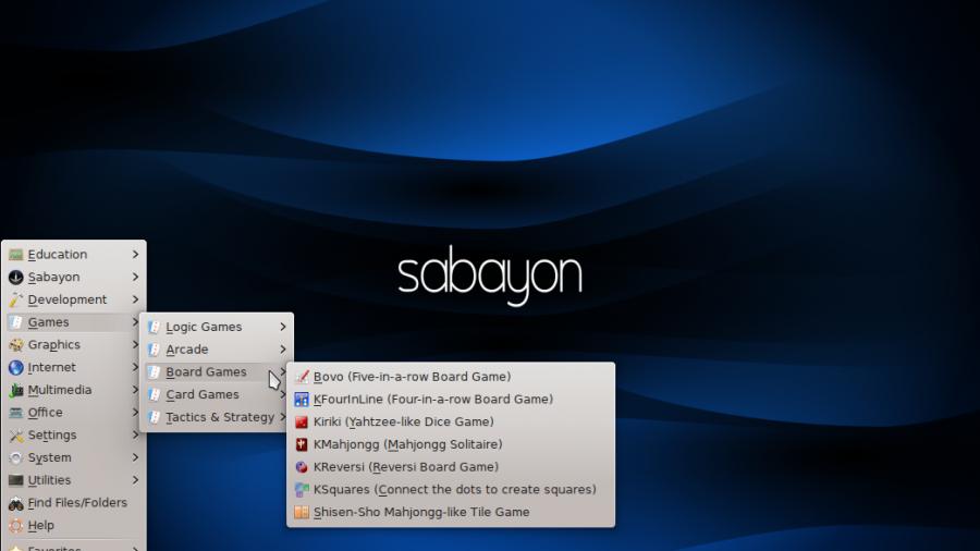 Sabayon 11 KDE Classic Menu