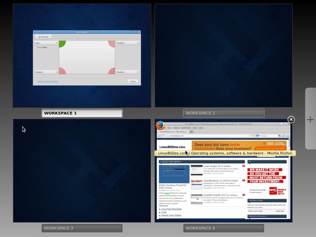 Fedora 20 Cinnamon desktop expo