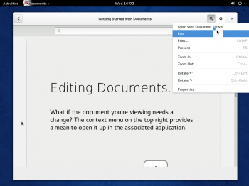 Fedora 20 GNOME 3 Documents