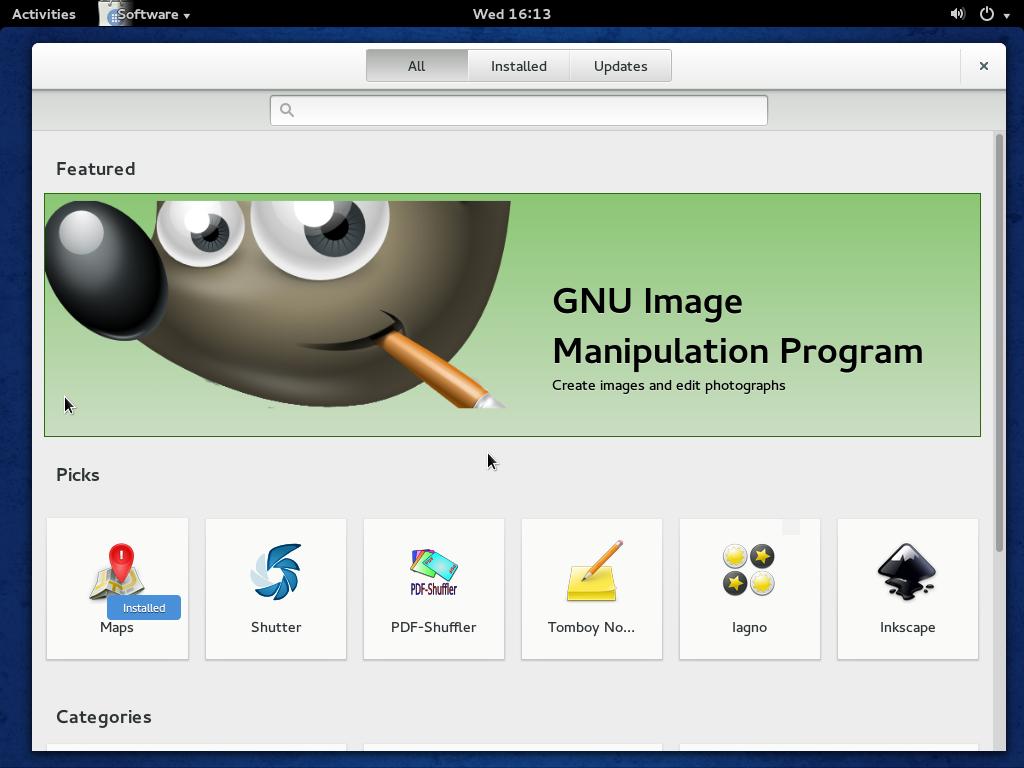 Fedora 20 GNOME GNOME Software