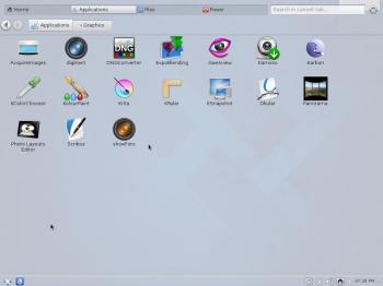 Fedora 20 KDE Homerun menu
