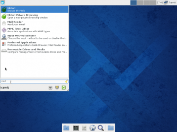 Fedora 20 Xfce Whisker menu search