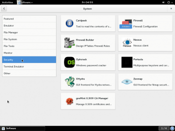 GNOME Software categories
