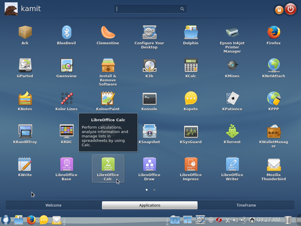 ROSA Desktop Fresh R2 app launcher