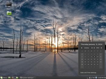 Linux Mint Cinnamon desktop calendar