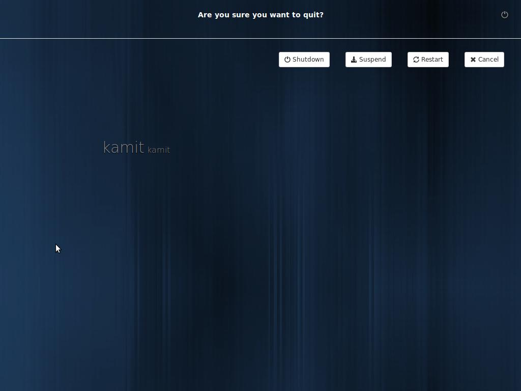 Linux Mint 16 KDE login