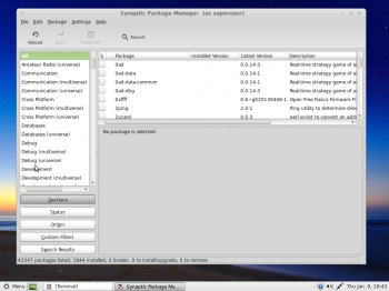 Linux Mint 16 MATE package manager