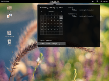 Siduction 2013.2 GNOME Shell