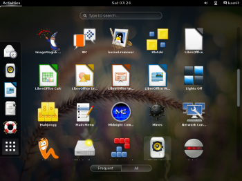 Siduction 2013.2 GNOME Shell appview
