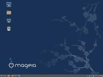 Mageia 4 Cinnamon desktop
