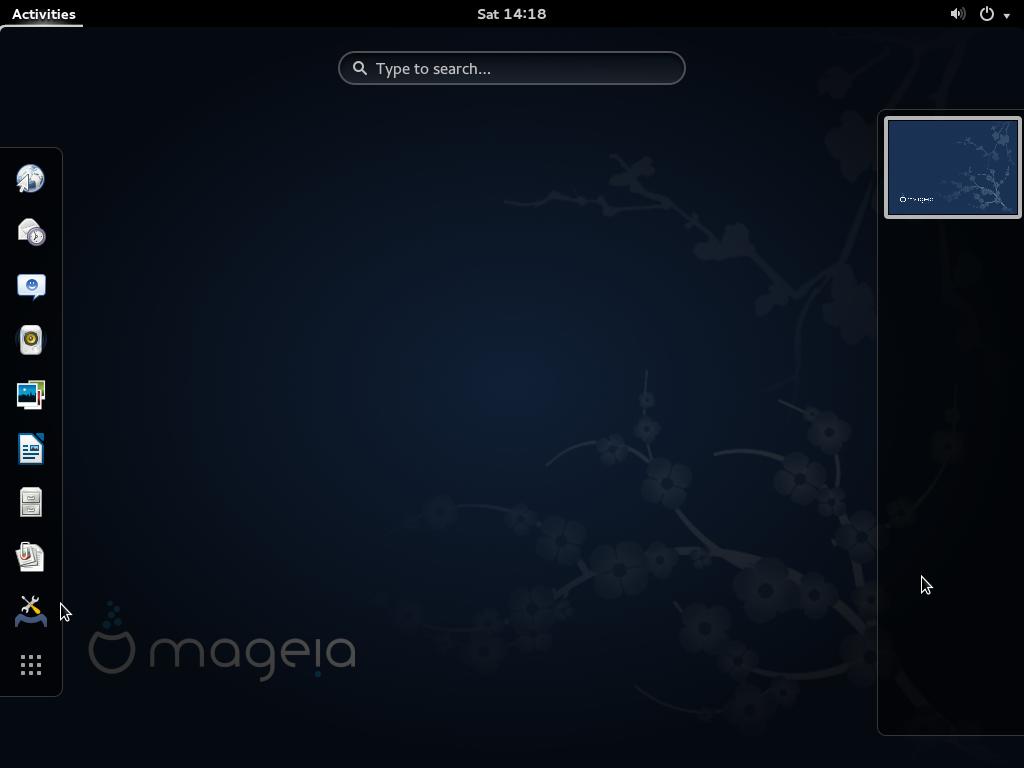GNOME 3 Mageia 4