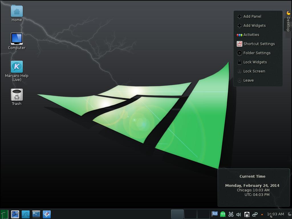 Manjaro 0.8.9 KDE