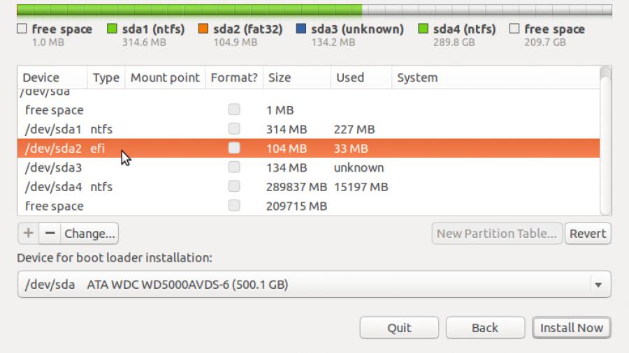 Default Windows 8 GPT partitions