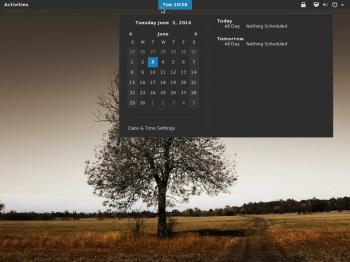 GNOME Desktop GNOME Shell calendar Antergos