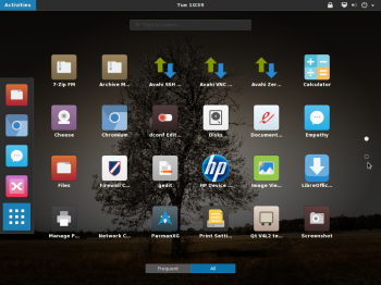 GNOME Desktop GNOME Shell apps Antergos
