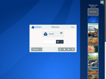 Antergos GNOME 3 Login background