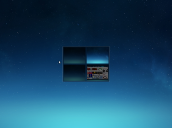 Deepin 2014 workspaces