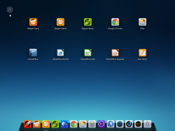 Another screenshot of the launcher showing the Favorites apps