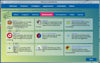 OpenMandriva 2014.1 OM Welcome