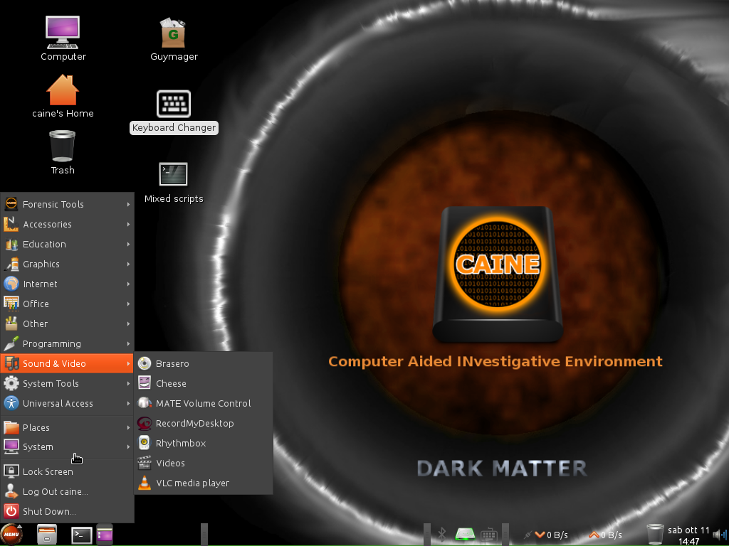 CAINE 6 multimedia apps