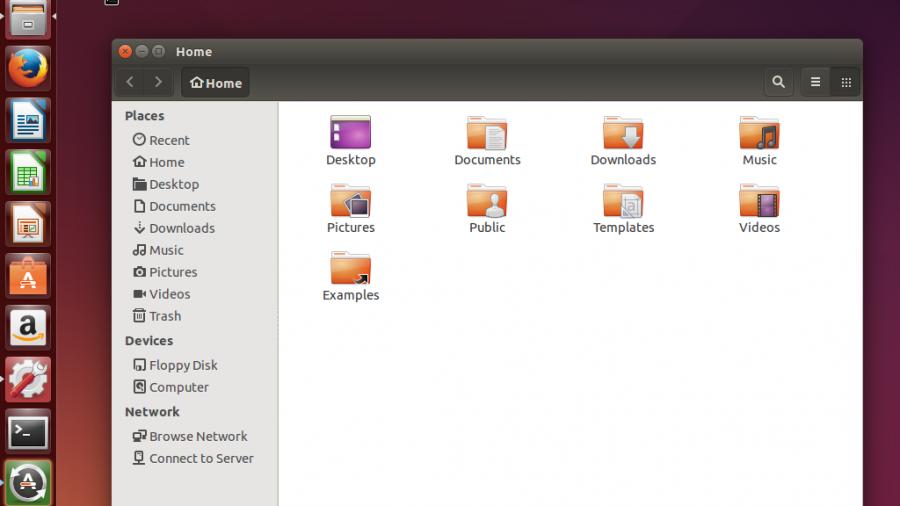 Ubuntu 14.10 Desktop menu bar