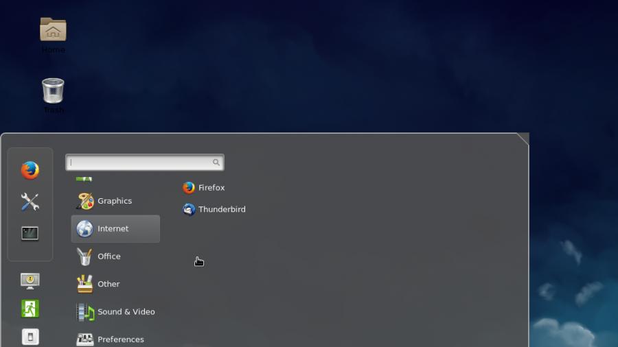 Fedora 21 Cinnamon desktop