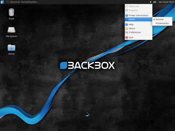BackBox 4.3 Xfce Desktop