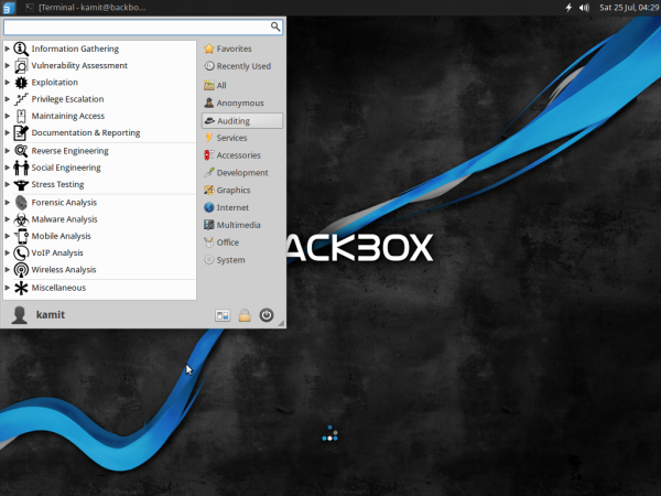 BackBox 4.3 auditing apps