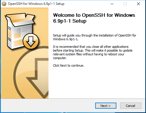 Install OpenSSH Windows 10