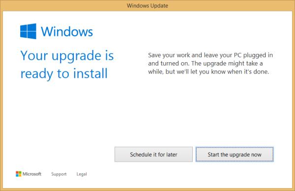 Install Windows 10 upgrade