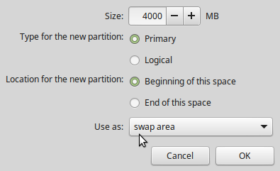 Swap partition Linux Mint 17.2