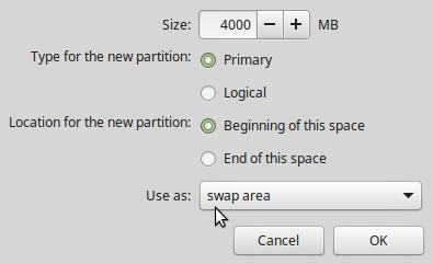 Swap partition Linux Mint 17.2