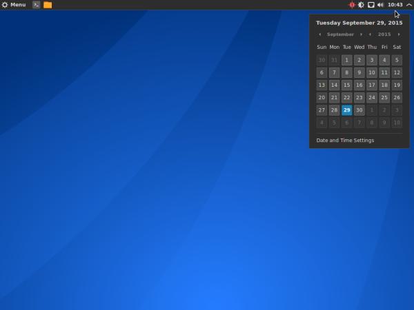 Antergos Cinnamon desktop
