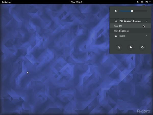 Fedora 23 GNOME desktop